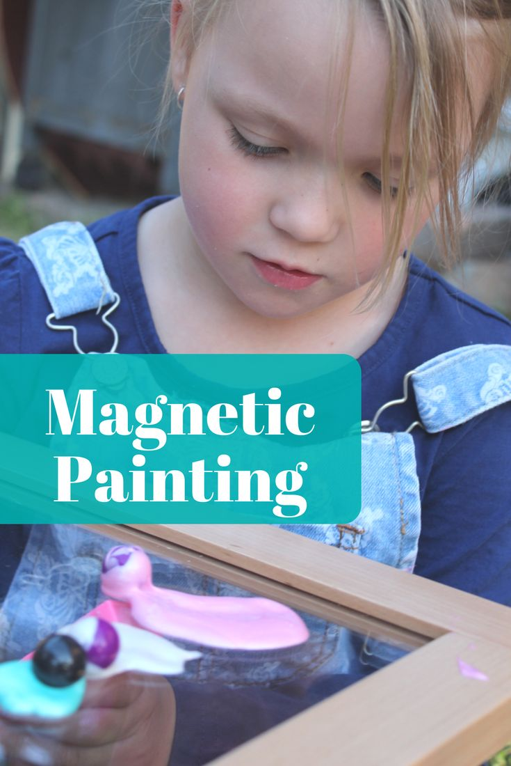 Paint with magic with magnetic wands and magnetic marbles.... your kids will love this unique painting experience!