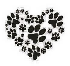 Paw prints on my heart is what my puppy mill rescue dog left on me when she died. Rescue dogs are the best!!