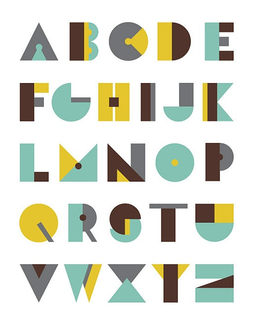 Alphabet poster by Olivia Raufman