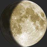 Get today's MOON PHASE or surf to another day to see phase and moon data