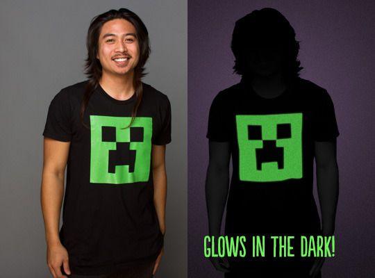 Minecraft Glow in Dark Creeper Face Tee