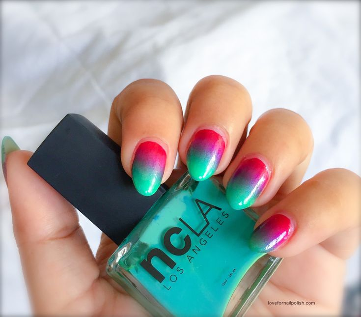 Colorful Gradient Nails Design ~ Using Bright Nail Polish Colors!