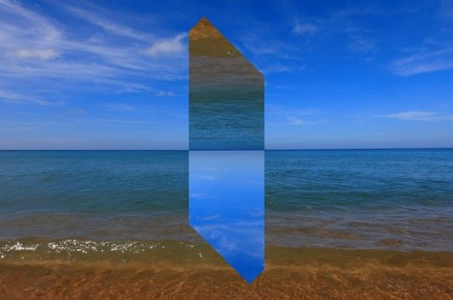 Landscapes Distorted with Geometric Fragments
