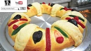 receta rosca reyes - YouTube
