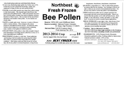 Пчелиная пыльца этикетки