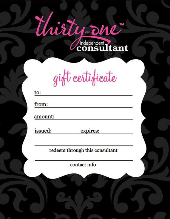 Thirty One Consultants Gift Certificates Instant Download Etsy In 2021 Thirty One Gifts Thirty One Thirty One Party