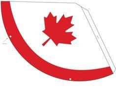 Canada Day Printable Decorations – Party Hat #1 - KidsPressMagazine.com