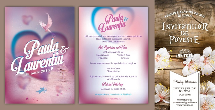 Pinky Heaven - Wedding Invitation - www.yankoo.ro