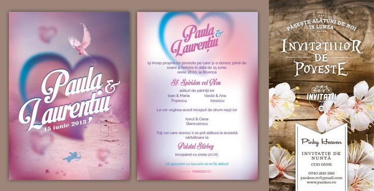 Pinky Heaven - Wedding Invitation - www.yankoo.ro