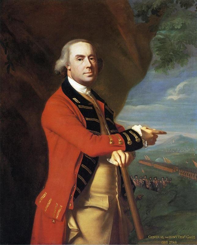 Portrait of General Thomas Gage, 1769 by John Singleton Copley. Neoclassicism. portrait. Yale Centre For British Art (Yale University), New Haven, CT, US