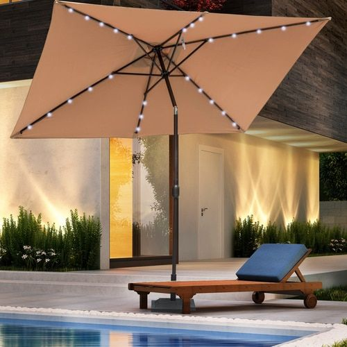 Lighted Umbrella For Patio 112 Best Sundale Outdoor Solar Powered Umbrella Images On Pinterest