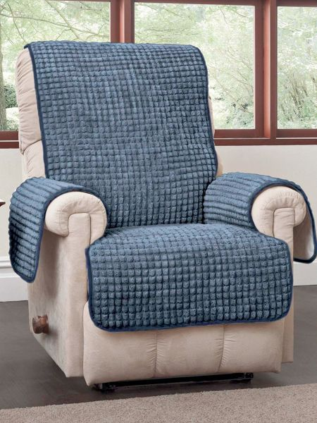 fairly straight forward Puff Recliner Protector -With its chenille-like weave this 65 x 78 Puff Recliner Protector instantly updates your home. : wing chair recliner cover - islam-shia.org