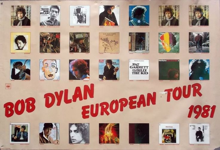 DYLAN, BOB - 1981 - Promoplakat - Europen Tour - Tourposter  - Din-A0