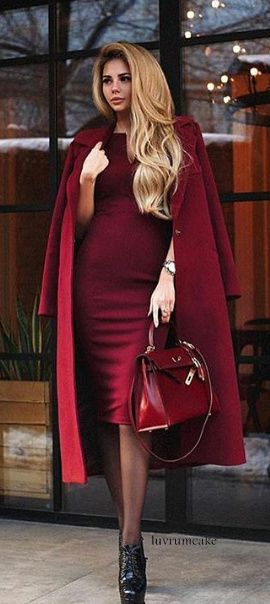 Casmere Coat w/sheath dress & Hermes Kelly Bag