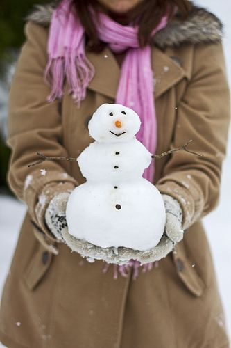 Playing Snowman during winter time.