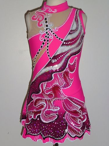 BRAND NEW Exquisite Figure Skating Dress Girls X-Large