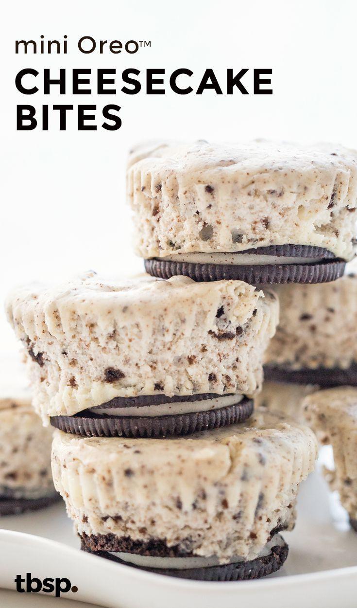 Mini Oreo Cheesecake Bites Recipe Yummy Yummy Pinterest