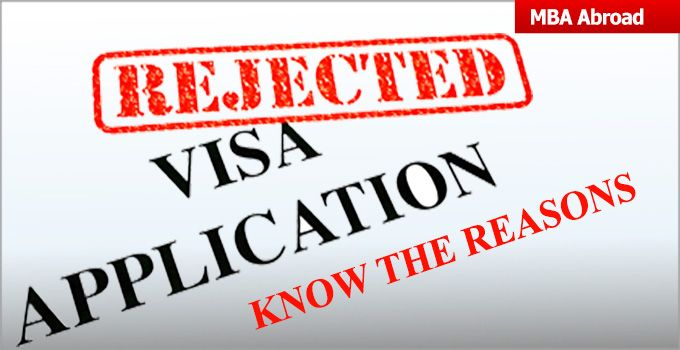 visa rejection due to not complete all required document on time. Top reasons for visa rejection