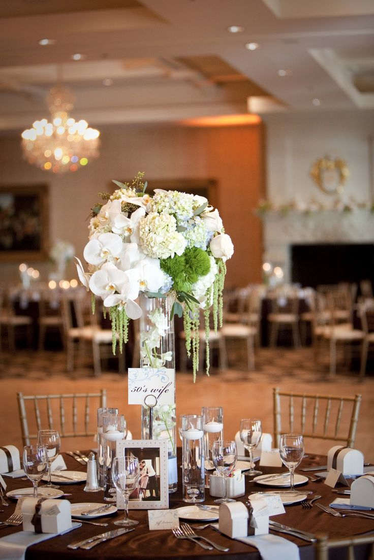 110 best vases for event decor images on pinterest centerpieces this is similar to our centerpieces white hydrangeas with yellow orchids submerged in water in reviewsmspy