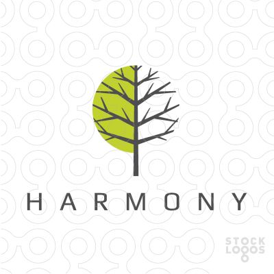 """Harmony - the circle with two halves is reminiscent of yin yang - without being so """"in your face"""" about it."""