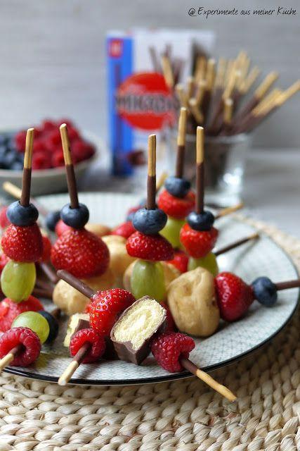 Experimente aus meiner Küche: Mikado-Obst-Spieße