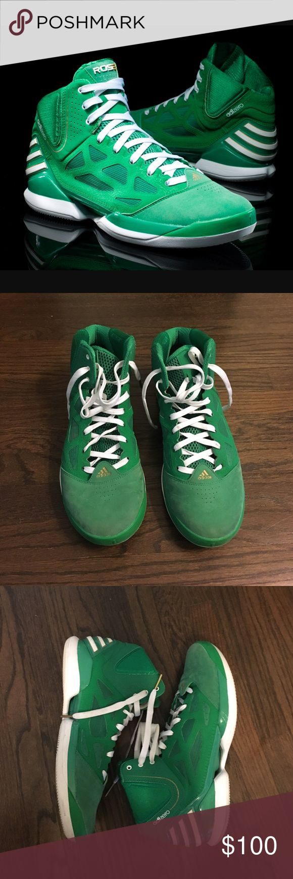 "⬇️Men's adiZero Rose 2.5 ""St Patrick's Day""•Sz 12 Men's Adidas adiZero Rose 2.5 ""St Patrick's Day"" Basketball shoes, good condition. Limited, sold out in stores, 100% Authentic! Adidas Shoes Athletic Shoes"