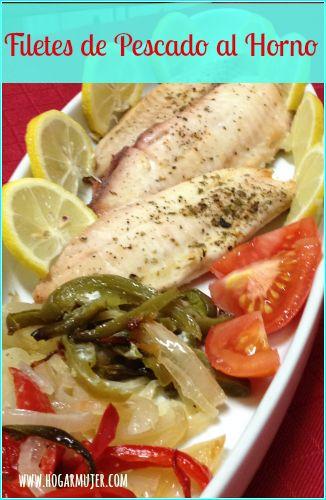 Filetes de Pescado al horno #recetas #pescado #hogarmujer