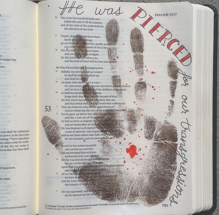 Bible art journaling. I used the idea of another artist on Instagram with her permission.  Too good to pass up.  When I think about the nails that pierced his hands, it makes me want to cringe.  We have so much to be thankful for. @Peggy Thibodeau