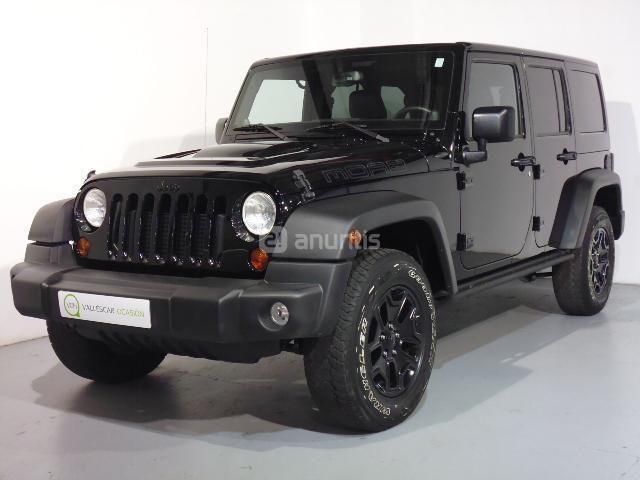 JEEP Wrangler Unlimited Todo terreno 2.8 CRD Moab Auto Diesel de color Negro (NEGRO) del año 2013 con 65973km en Barcelona