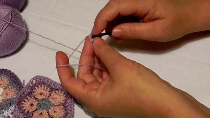 Háčkovaní -  Africká květina krok za krokem African flower crochet
