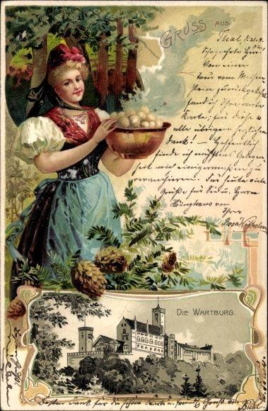 Old Postcard * Wartburg Castle, Eisenach, Thüringen, Germany