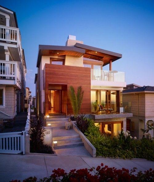 .: Contemporary Home, Dreams Home, House Design, Beaches House, Beaches Home, Dreams House, Manhattan Beaches, Small House, Modern House