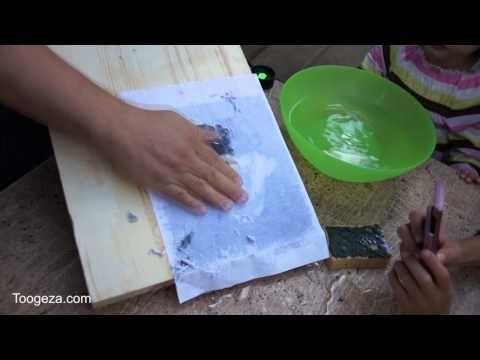 перенос картинок на дерево | gel medium transfer / foto transfer potch glue - YouTube