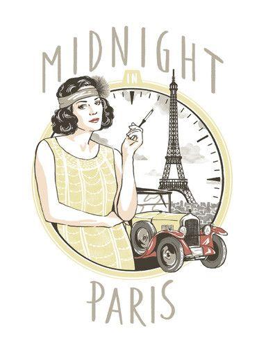 Camiseta Meia Noite em Paris | 365 Filmes