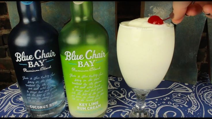 INGREDIENTS 1 oz. Blue Chair Bay® Key Lime Rum Cream .5 oz. Blue Chair Bay® Coconut Rum 1 oz. pineapple juice 1 oz. orange juice 1 oz. cream of coconut 1 cup...