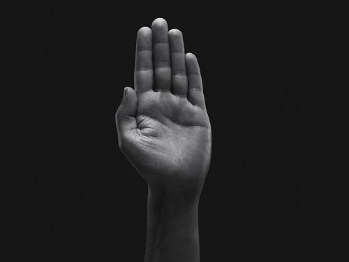 giles revel for Pentagram design agency hand model richard beaumont