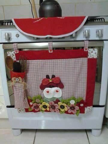 Decoración navideña para cocina.