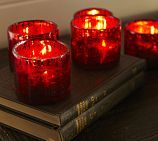 Red Mercury Glass Votive Candle Cup Mercury Glass