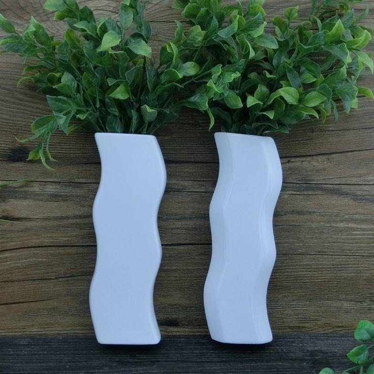 Настенные белые керамические вазы керамические цветок цветы положить воды минималистский декор дома