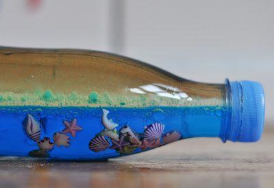 """Кораблик из коробки из под молока или сока и вот такая чудесная """"морская"""" бутылка В блоге автора еще очень много интересного."""
