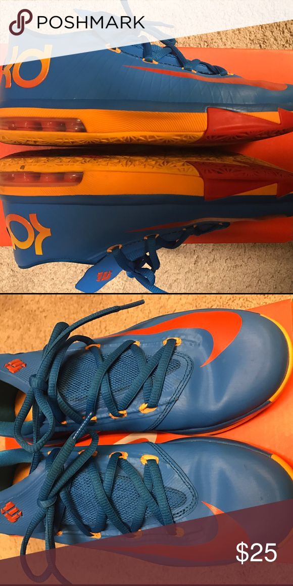 NIKE KD VI Size 5Y Youth. Fits Women Size 7 NIKE KD VI Size 5Y Youth. Fits similar to Women Size 7. I wore these myself. Smoke-free and Pet-free home. Nike Shoes Sneakers