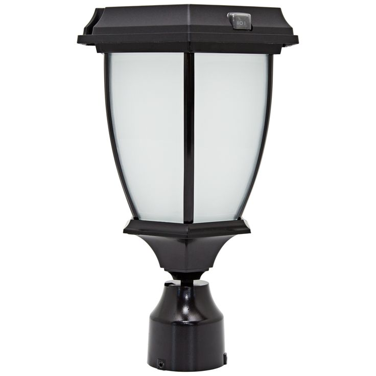 Black LED Solar Outdoor Post Light   Style # 20X05