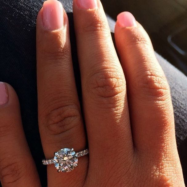 1.60 Ct. Natural Round Cut Aunthentic Pave Diamond Engagement Ring GIA Certified #DiamondMansion #Pave
