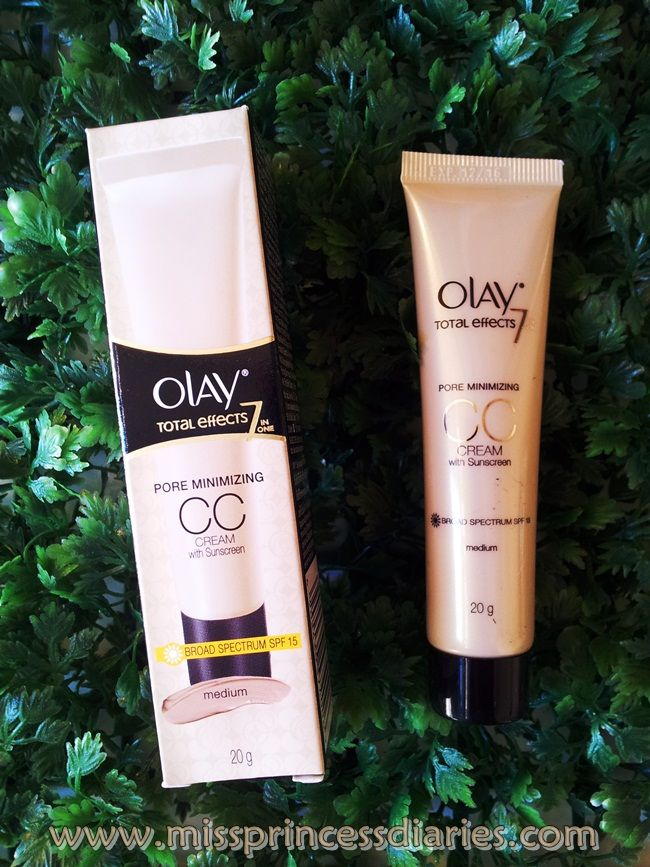 Miss Princess Diaries: Olay Total Effects Pore Minimizing CC Cream with Suncreen in Medium