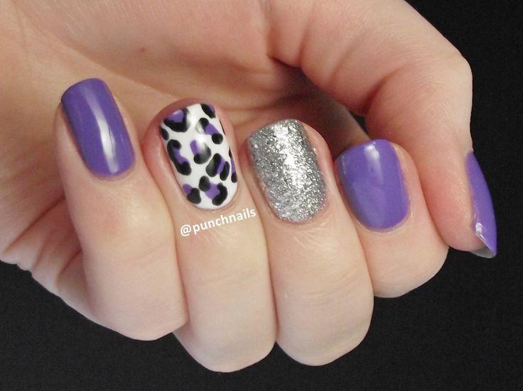 Purple leopard print with glitter