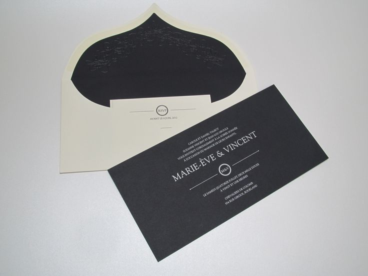 This heavy card stock envelope makes a statement of sophisticated luxury. Designed by www.paperstudio.ca #luxury #invitation #wedding