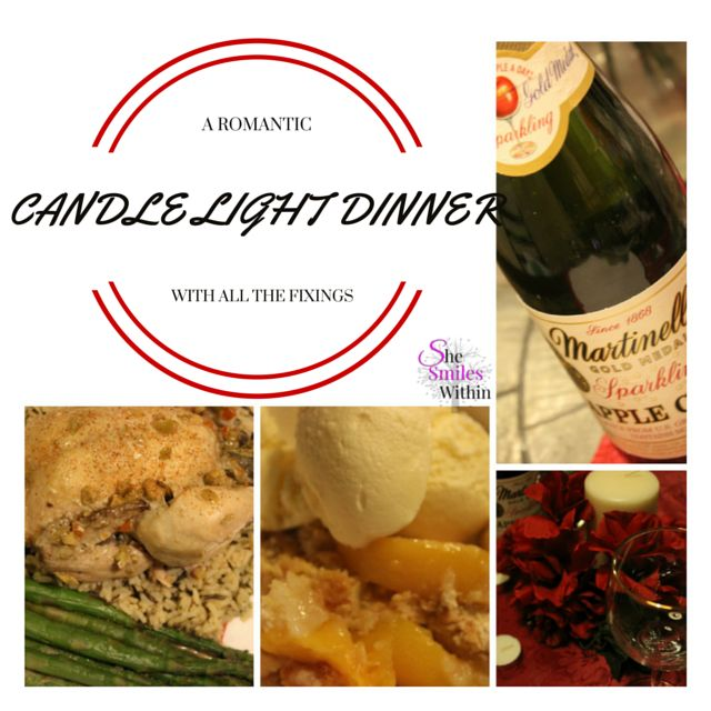 A Romantic Candle light Dinner with all the fixings…