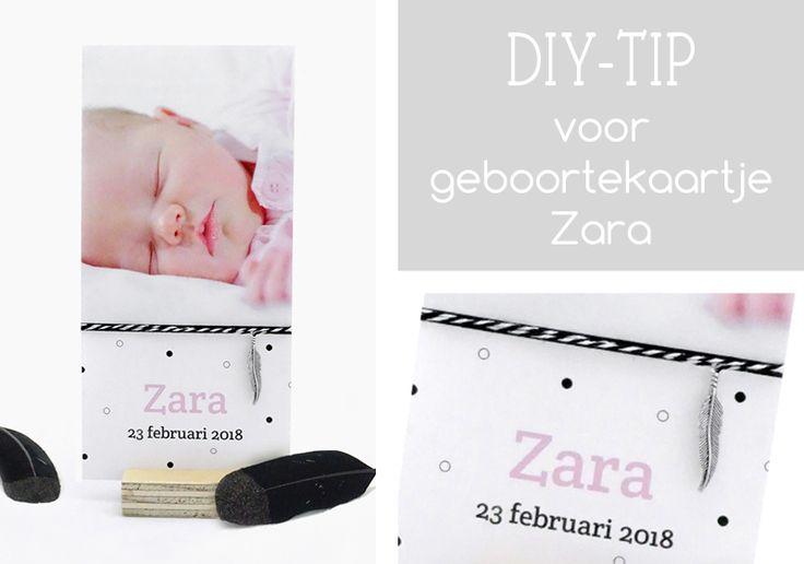 Do It Yourself tip voor geboortekaartje Zara - KaartjeVanOns.nl - Bijzondere geboortekaartjes met extra oog voor kaartjes met foto