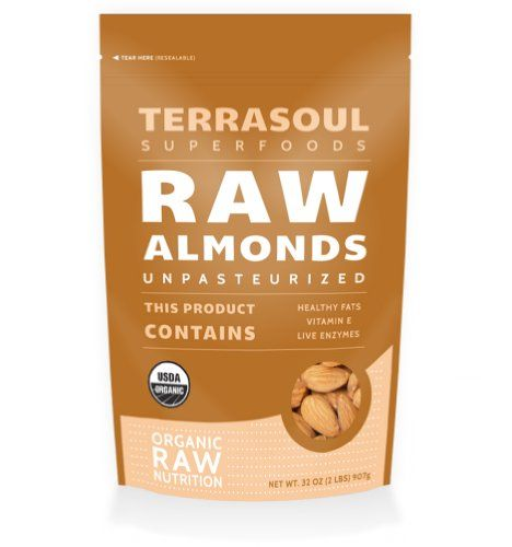 Terrasoul Superfoods Raw Unpasteurized Organic Almonds Sproutable, 2 lbs ** Final call for this special discount  : Baking Ingredients