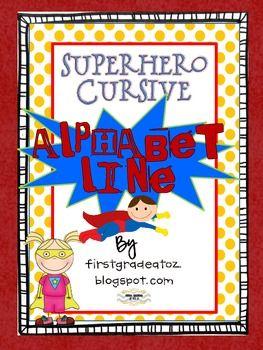 superhero bubble writing alphabet